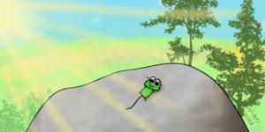 Like Gecko in the sunshine