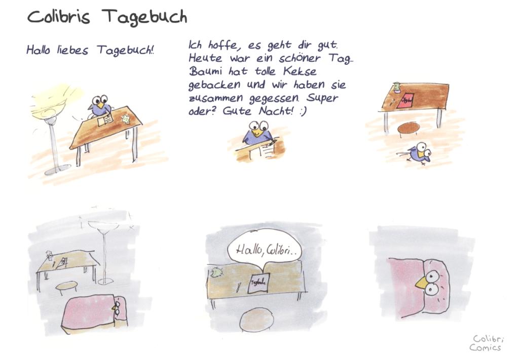 Ein kleiner Comic in dem Colibri sein Tagebuch etwas besser kennenlernt..
